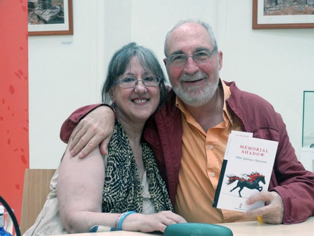 La autora, junto a Juan José Ceba