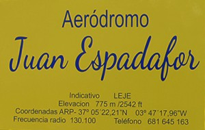 Aeródromo Juan Espadafor inaugurado hoy 12/11/2016 FOTO: ANTONIO ARENAS
