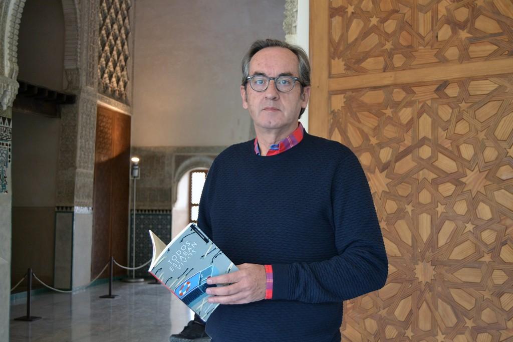 Javier Bozalongo, autor de 'Todos estaban vivos' (Esdrújula) en el Cuarto Real de Santo Domingo / ANTONIO ARENAS