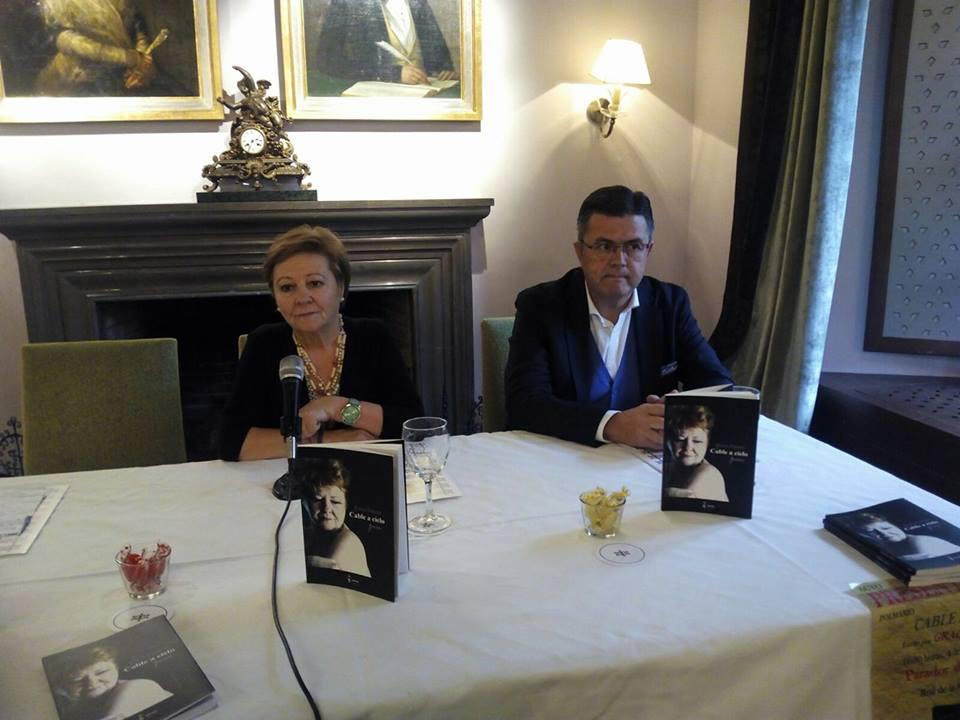 Gracia Romero y Juan Carlos Sánchez, en el momento de la presentación