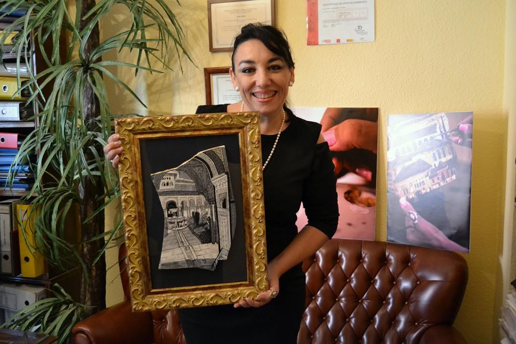 """Mariajose Muñoz Rubio presenta el 17 de enero, en el Centro Artístico de Granada su colección de obras """"Granada, versos en piedra"""" 11/01/2017 FOTO: ANTONIO ARENAS"""