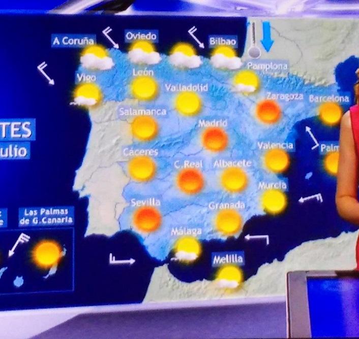Mapa del tiempo de TVE